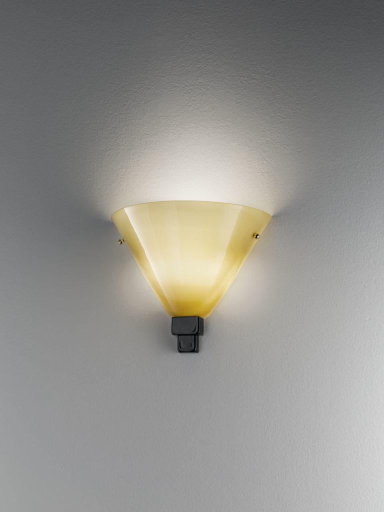 TRABACOLO LA/72B -Altura: 27cm -Diámetro: 36cm Cristal de Murano