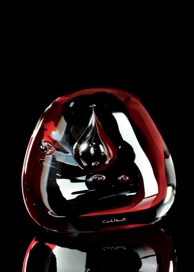 SAXUM Cristal Murano -Escultura numerada 1/333 -Altura: 125mm Diseño: Giovanni Moretti