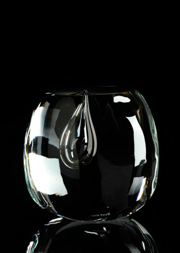 STILLA Cristal de Murano Escultura numerada 1/333 Altura; 160mm Diseño; Carlo Moretti Carlo Moretti