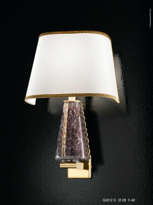 SPIGNON-G/612 C -Altura; 42 cm -Diámetro; 28 cm Cristal de Murano