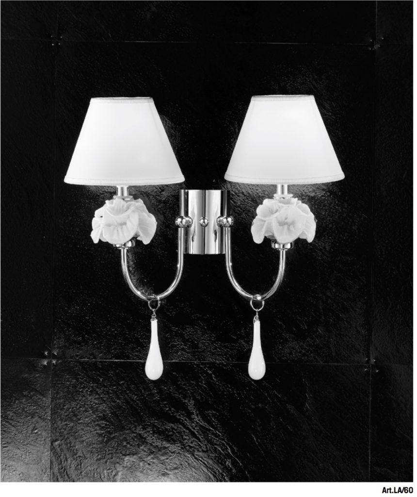 GIUDECCA-LA/60 -Altura: 44cm -Diámetro: 18cm Pantallas en seda Cristal de Murano