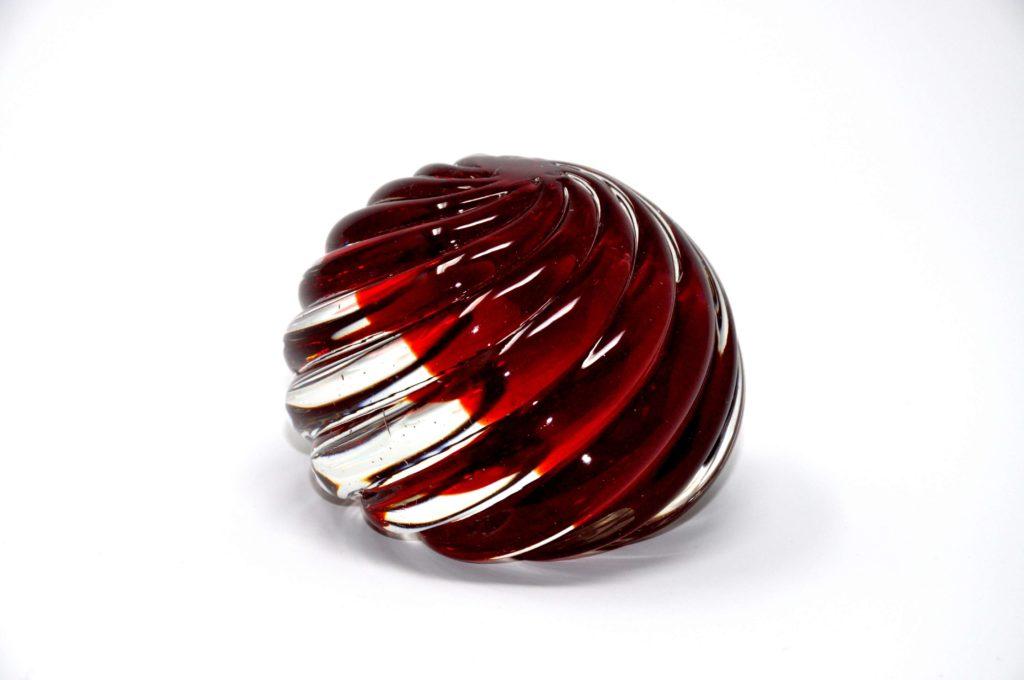 SASSO ROJO Pisapapeles Diseño: Seguso Cristal de Murano