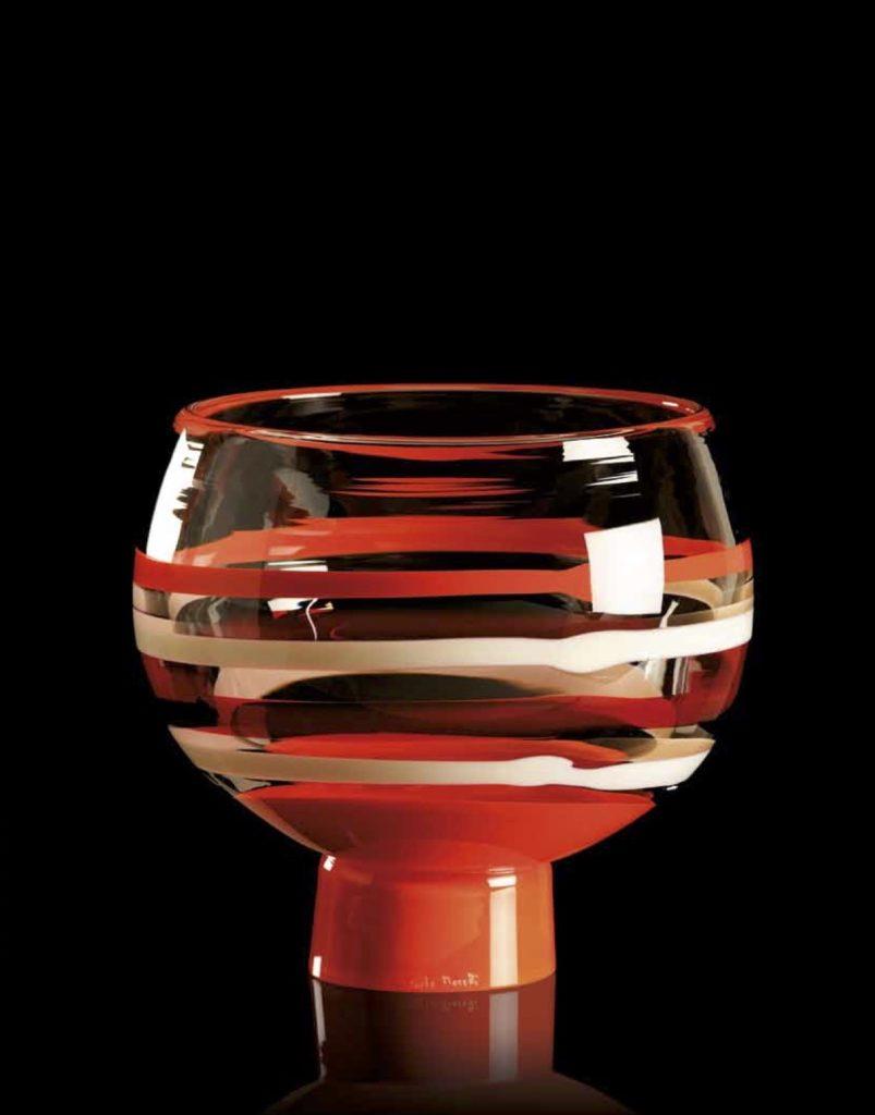 VOLA CA Altura: 175 mm Diámetro: 210 mm CRISTAL MURANO Diseño: Carlo Moretti