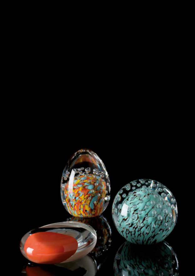 BOCCE-SASSI-UOVA Pisapapeles Cristal de Murano Diseño: Carlo Moretti