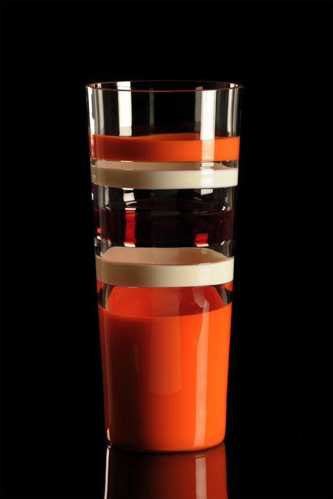 TRONCOCONO 1741.R ARA Altura :440mm CRISTAL MURANO Diseño: Carlo Moretti