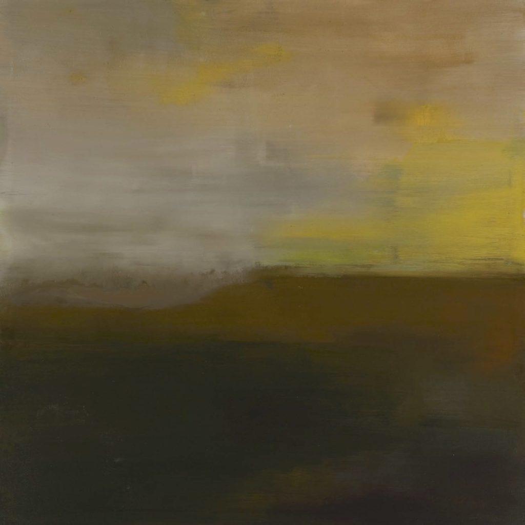 Alliggera l´órizzonte. 2008 técnica mixta / tela: 100 x 100 cm