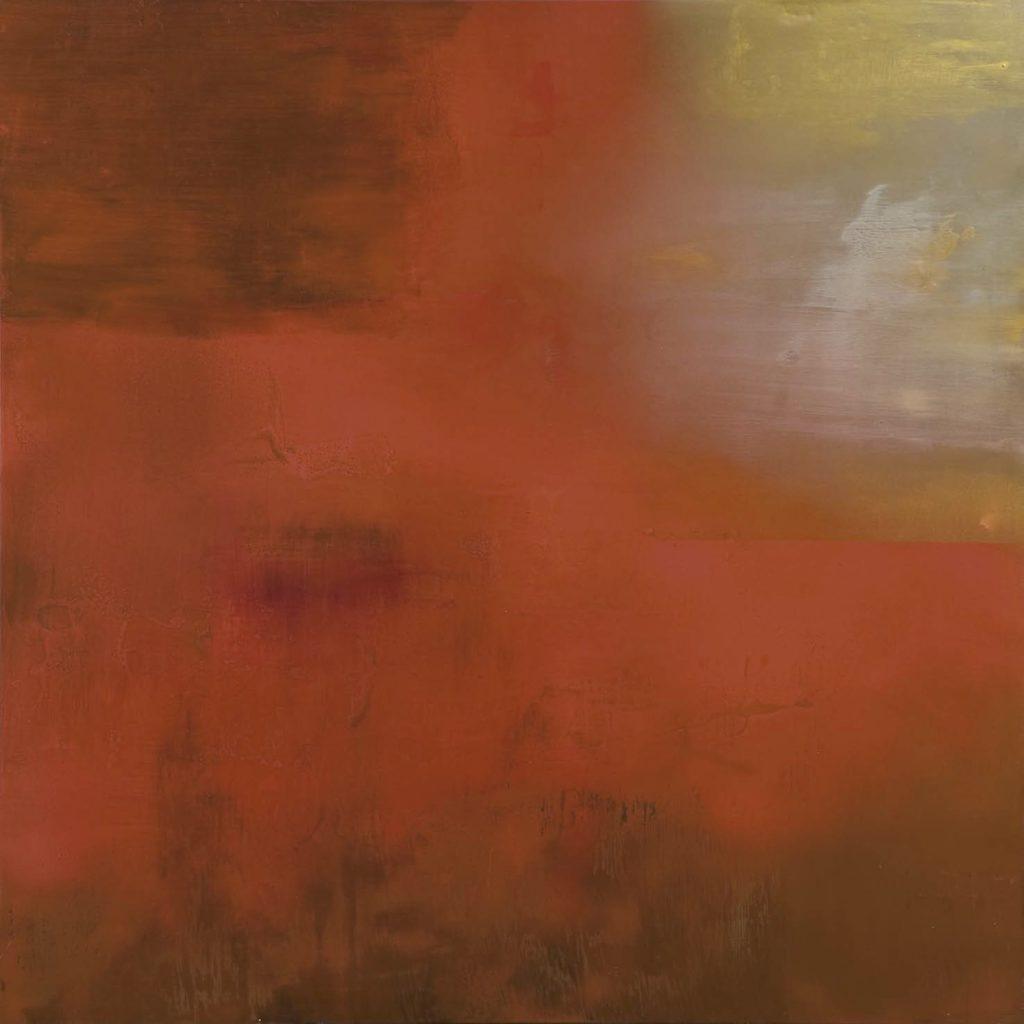 Arriva il sole. 2008 técnica mixta / tela: 150 x 150 cm