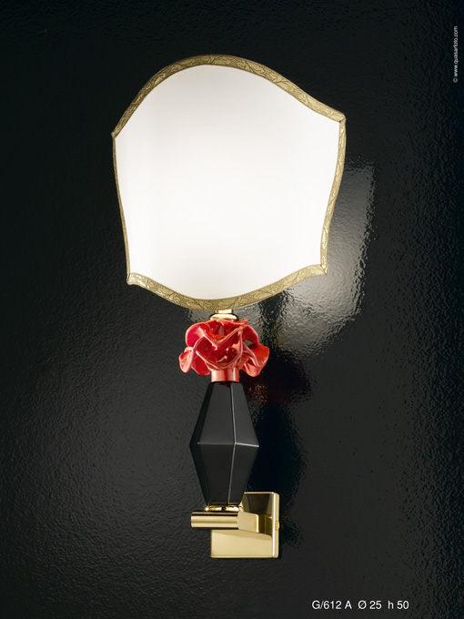 TREZZE-G/612A -Altura: 50cm -Diámetro: 25 cm Pantallas en seda Cristal de Murano