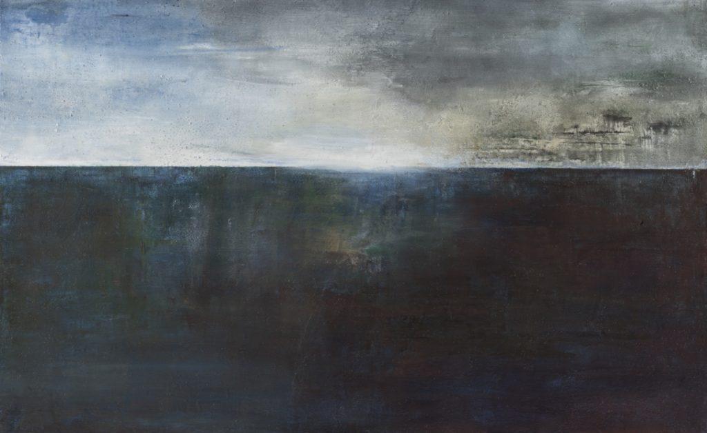 Mare freddo I. 2012 técnica mixta/tabla: 122 x 200 cm