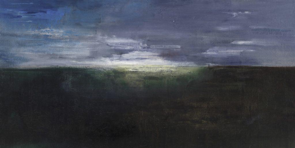 Mare freddo II. 2012 acrílico/tabla: 122 x 240 cm