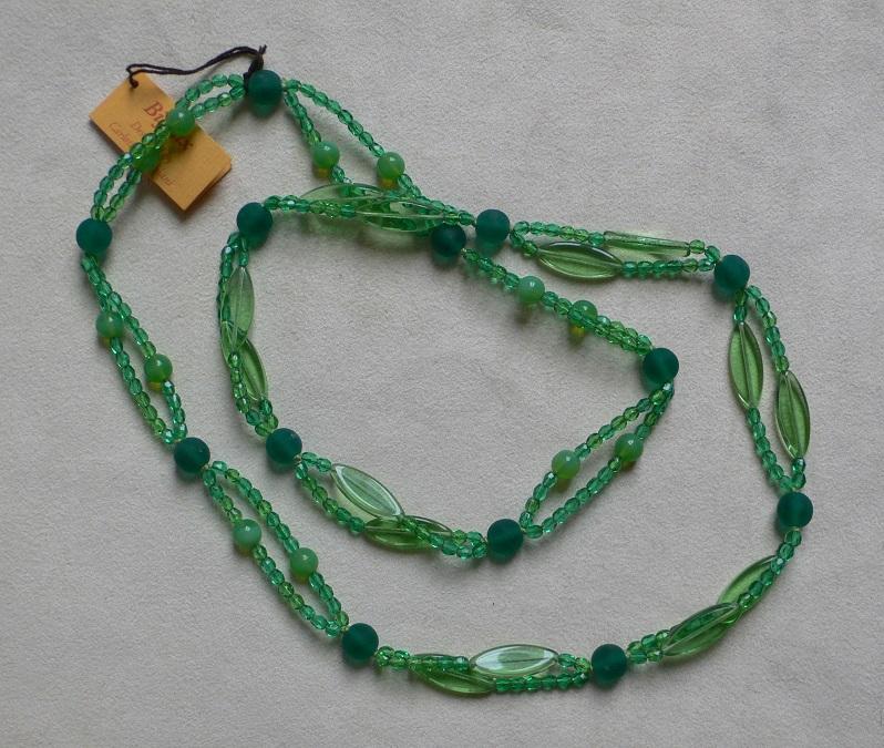ART N°62 COLOUR GREEN DIMENSIONS L 45 cm CRISTAL MURANO
