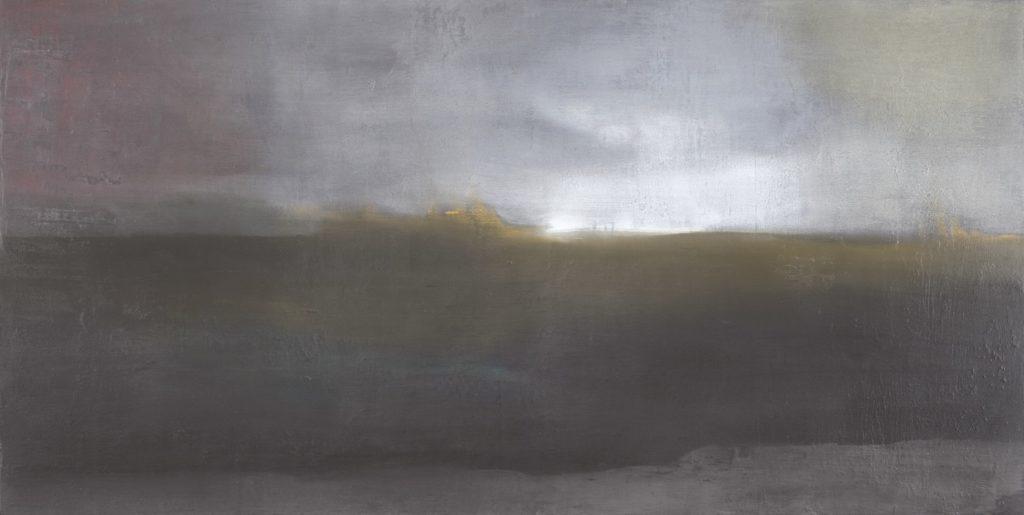 Pioggia. 2009 técnica mixta/tabla: 125 x 250 cm