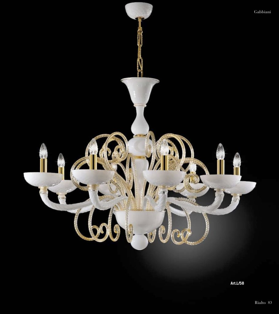 RIALTO Disponible colores: Blanco-Oro Cristal-Oro Rosso-Oro Ambar-Oro