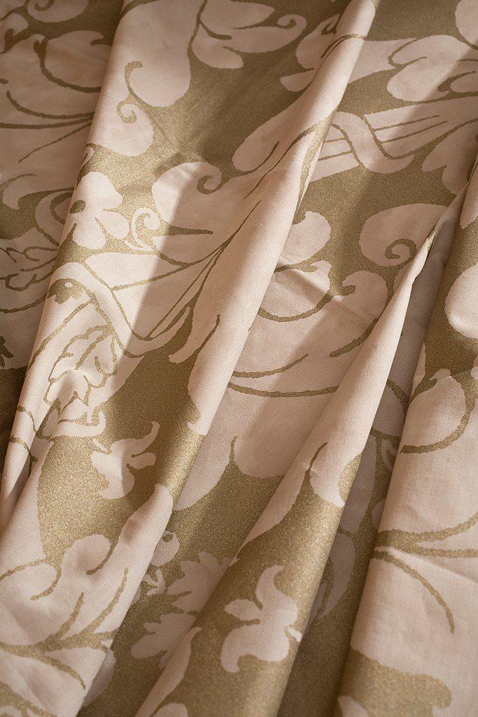ALMORO Avorio Silver Gold 100% algodón egipcio
