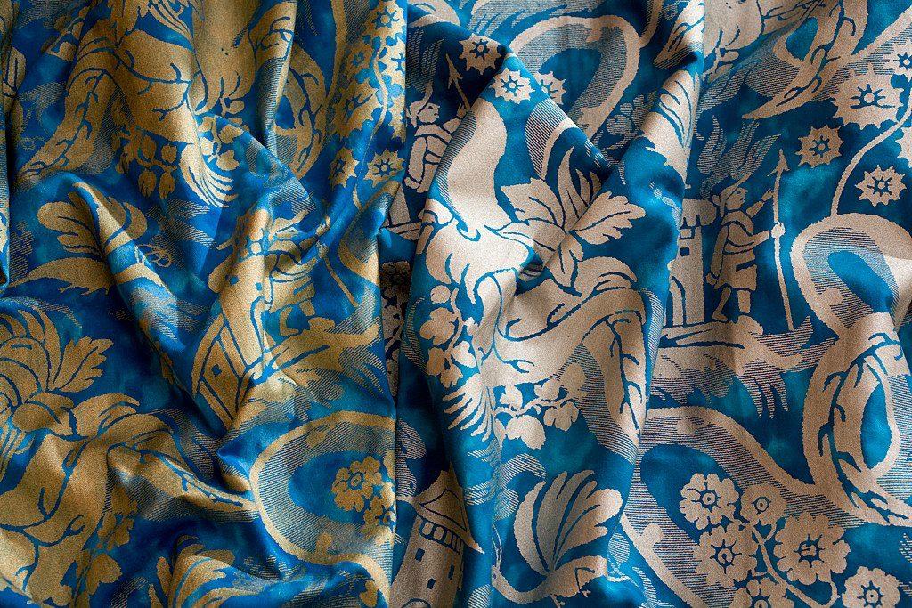 CHINOISERIE Azul China Gold Azul China Silver 100% algodón egipcio