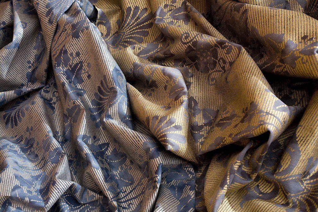 FONTAINEBLEAU Antique Blue Silver Polvere Gold 100% algodón egipcio