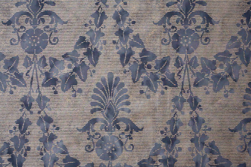 FONTAINEBLEAU Antique Blue Silver 100% algodón egipcio