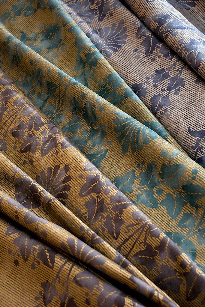 FONTAINEBLEAU Polvere Gold Verde Cobalto Gold Antique Blue Silver 100% algodón egipcio