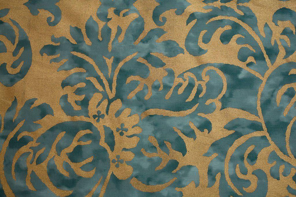 HAMPTON COURT Blue Royal Silver GoldVerde Cobalto Gold 100% algodón egipcio