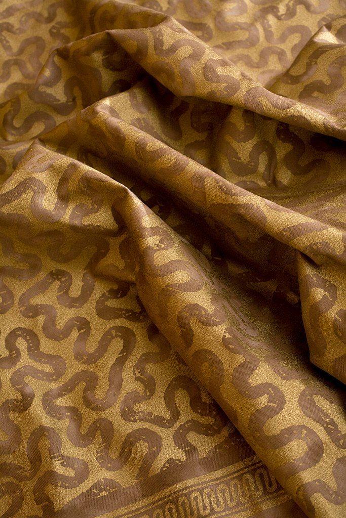 VERMICELLE Cognac Gold 100% algodón egipcio