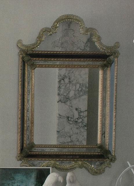 Espejo veneciano 2 45x50 CM CRISTAL DE MURANO